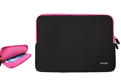 Conze Water-resistant Neoprene Carrying Sleeve Case Compatible with Toshiba Tecra Z50-A-11J 4th Gen in Pink 11j Laptop