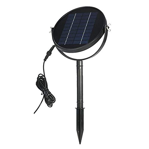 ller76 Solar Fountain Pump,3W Solar Outdoor Water Fountain Panel Kit,Circular Solar Garden Pond Water Pump Garden Freestanding Solar Panel Kit Water Pump Float Watering for Pool,Aquarium(Black)