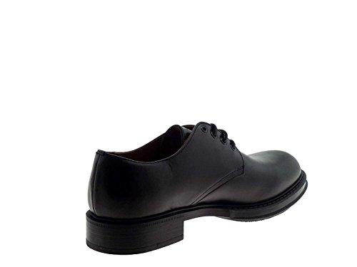 FRAU - Zapatillas de Piel para hombre Negro negro 43 XDO4J6