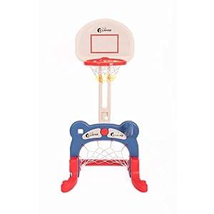 Kids 3-in-1 Sports Center: Basketball Hoop, Soccer Goal, Ring Toss Playset