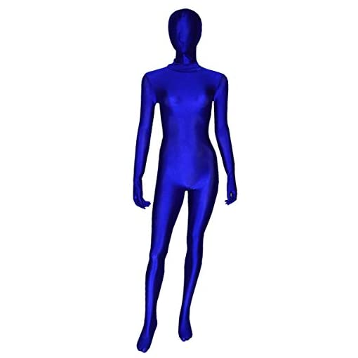 Ourworth Blue Zentai Suit Female Full Bodysuits Halloween Costume