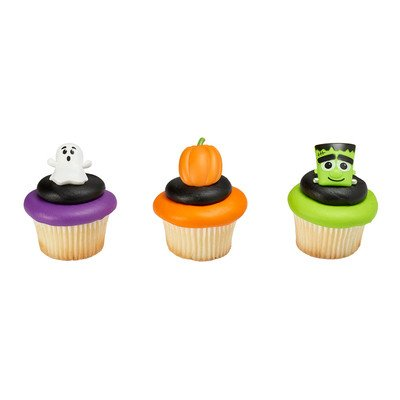 24 ct.Spooky Characters Cupcakes Rings with Cupcake Wrappers