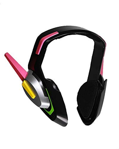 OW D.Va Headset Hana Song Cosplay Costume Accessories Analog Gaming Props Pink