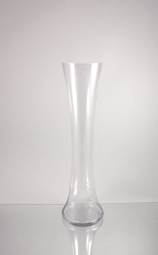 WGV Clear Tall Convaed in Cylinder Bud Glass Vase, ()