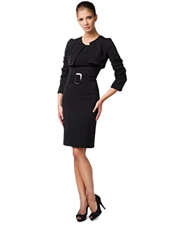 Edle Stretch BlazerBusinesskleid Mit Business Kleid Kostüm Bolero thsQrd