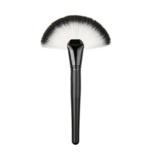 HOSL Fan Shape Premium Synthetic Hair Makeup Brush Set Cosmetics Foundation Blending Blush Face Powder Brush Makeup Brush Kit