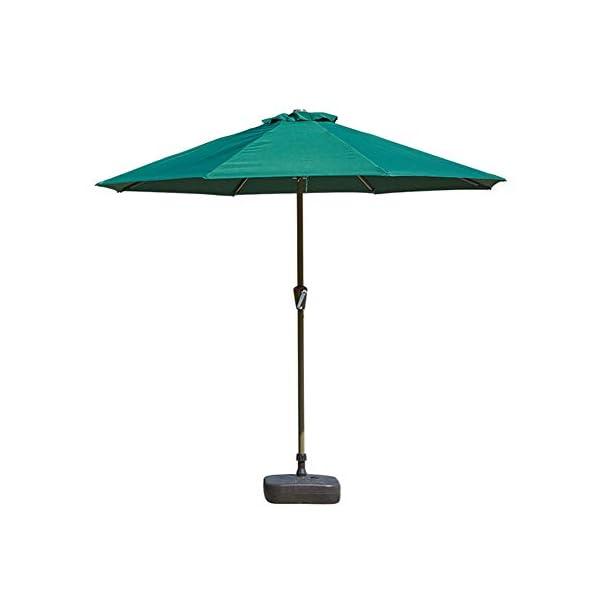 MENG Ombrellone Esterno da 2,5 M Ombrellone Tondo di Ferro Ombrelloni con Protezione Solare E UV Ombrelloni da Giardino… 1 spesavip