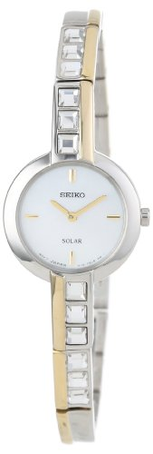 Seiko Women's SUP192 Dress Solar Square Crystals Japanese Quartz Watch