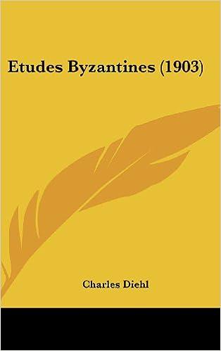 Book Etudes Byzantines (1903)