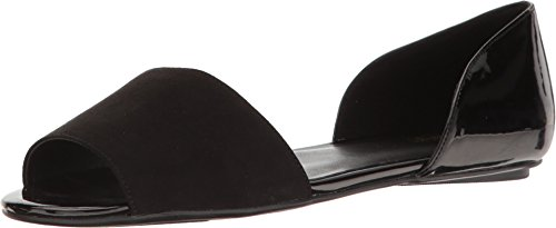 Nine West Women's Broken Black/Black Sandal (Nine West Flat Sandals Women)