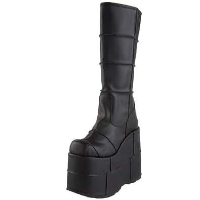 Pleaser Men's Stack-301 Platform Boot,Black PU,4 M US