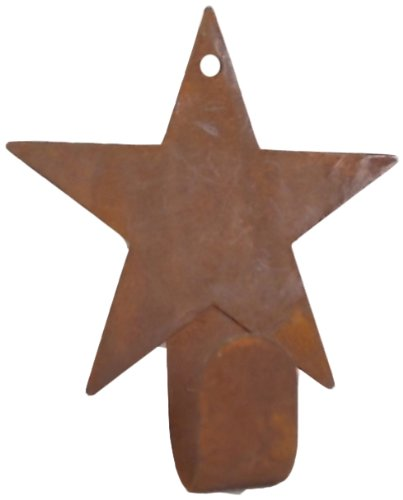 Craft Outlet Rustic Star Hanger Figurine 4.5-Inch Set of 12 COIIN T0064