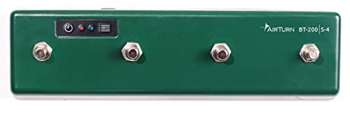 AirTurn BT200S-4 Bluetooth Pedal Page Turner DAW MIDI App Controller