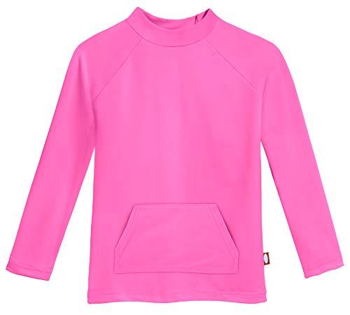 (City Threads Baby Boys' Watercolor Long Sleeve Pocket Rashguard, Medium Pink, 5 )