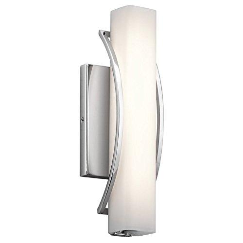 Elan 83760 1 Rowan Sconce/Vanity Bath Wall Lighting, 21W Chrome