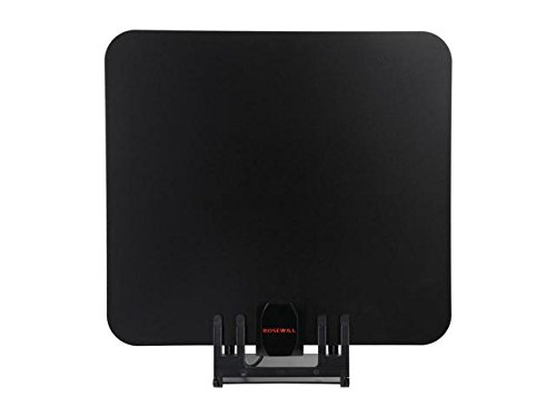 Rosewill Amplified UHF/VHF/HDTV Indoor 1080P Digital TV Antenna - 50 Mile Range with Detachable Amplifier USB Power Supply and 20 ft Coax Cable, RHTA-15003 by Rosewill