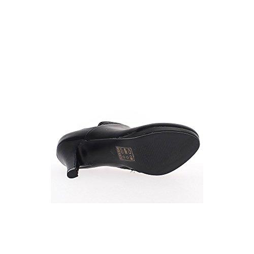 Con 9cm Piattaforma Strass Collare Nera Donna E Stivali Tacco Di vxSPq7