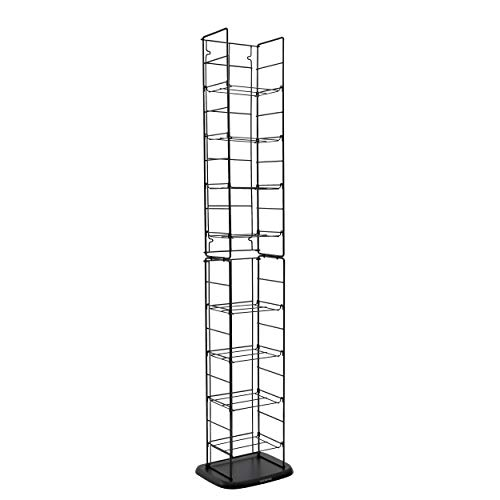 (Atlantic Adjustable Wire Media Rack - Heavy Gauge Steel, Holds 153CDs 05 72 DVDs, 8 Adjustable Shelves PN78205091)