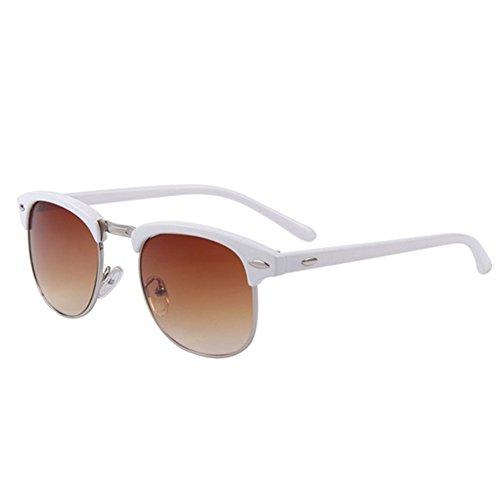 Fashion Women Retro Rivet Sunglasses Classic Brand Designer Unisex Sunglasses UV400 (Brown, - Bandz Ray