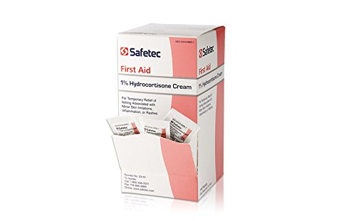 Safetec Hydrocortisone 1% Cream, .9 g. pouch 144 ct. box (12 boxes/case)