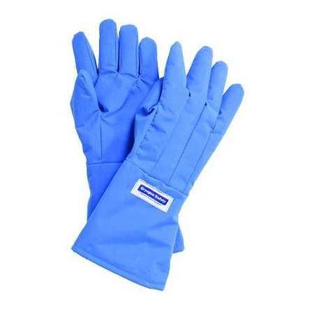 National Safety Apparel G99CRBEPMDMA Nylon Taslan and PTFE Mid-Arm Waterproof Safety Glove, Cryogenic, 14'' - 15'' Length, Medium, Blue