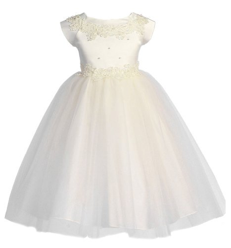 Ivory Embroidered Taffeta Dress - 3