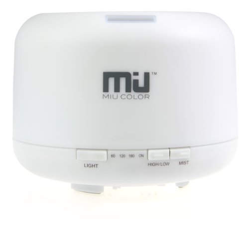 MIU COLOR™ 500ml Aroma Diffuser Ultrasonic Humidifier LED Color Changing Lamp Light Ionizer