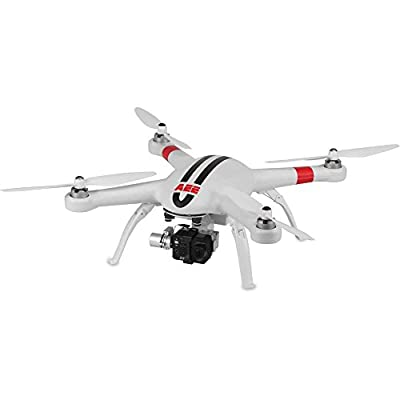 AEE Technology HD Recording ready-to-fly Hobby RC Quadcopter & Multirotor White with Black Stripes (AP11 Pro) from AEE Technology Inc
