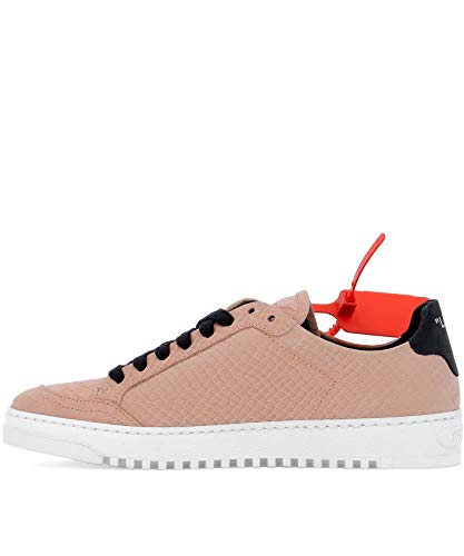 Leder OFF Damen WHITE Rosa OWIA093F18B810012210 Sneakers 1qIOaqZ7