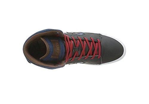 Converse As12 Americ Mid 236121-61-12 - Zapatillas de cuero unisex negro y azul