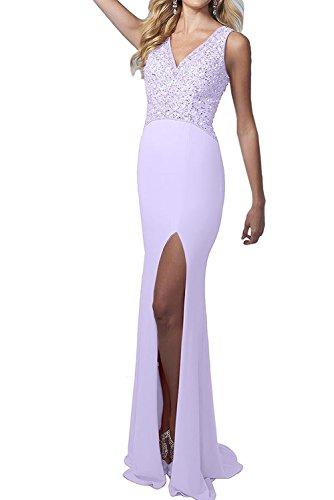 Perlen Lang Lilac Gruen Damen Brautmutterkleider V Abendkleider Hell La Ausschnitt Braut Promkleider Marie qPfgA0