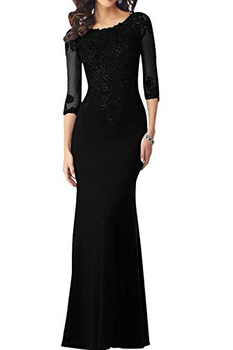 Negro Vestido mujer trapecio Topkleider para wzPfSIqIx