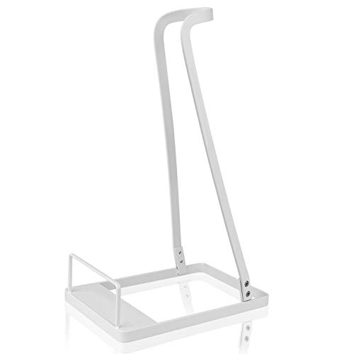 IEOKE Vacuum Stand for Dyson V6 V7 V8 V10,Other Brands and Generic Stick Cleaner,Citus Lightweight Warehouse Storage Rack Steel Support Organizer for Handheld Electric Broom (White, Ideal Gift)