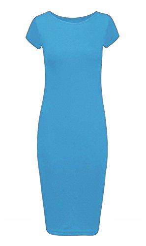 Courtes Vert Manche Turquoise Uni Manches Sans 21fashion Pull Femme 0qwXTO