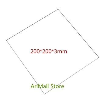 WillBest - Plato de cristal de borosilicato de 2002003 mm para ...
