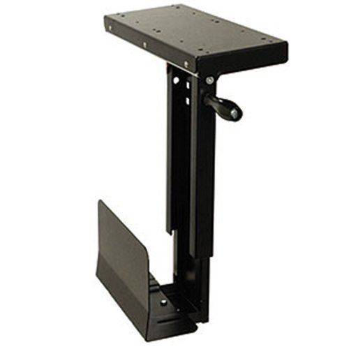 Ziotek Under Desk Sliding Small CPU Holder Computer Mount, CS-11F, Fits Up To 6 Inch x 20 Inch Cases