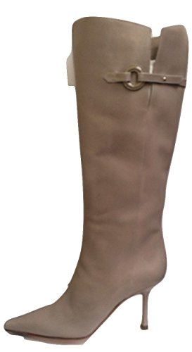 Jimmy Choo Super Taupe All Leather Boot s25hlY