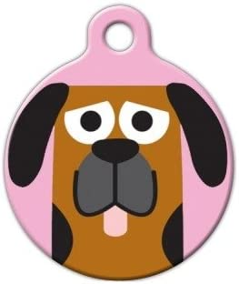 Blood Hound Girl Pet ID Tag for Dogs and Cats Dog Tag Art