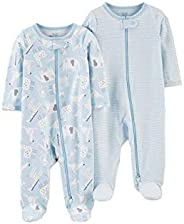 Carter's Baby-Boys 2-Pack Cotton Footed Pajamas Slee