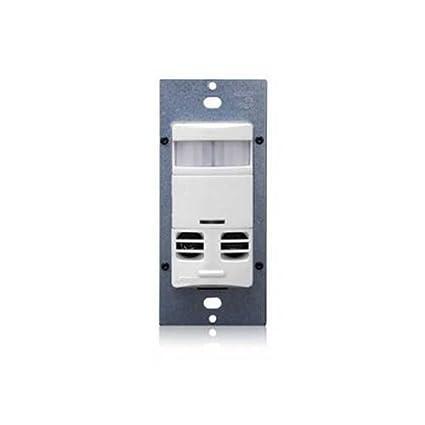 Leviton ossmt-gaw Decora estilo – Interruptor de pared PIR Detector de movimiento ultrasónico/