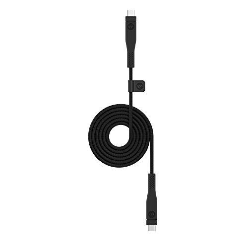 mophie 1 Meter PRO Cable - Micro USB 3.1 USB-C to USB-C Cable Made for Devices with a USB-a or USB-C connectors - Black