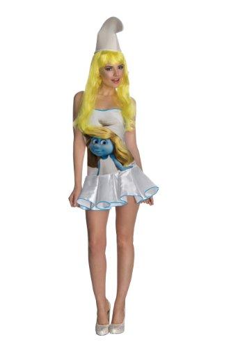 Secret Wishes  Smurfs Sexy Smurfette Costume Dress, Multi, X-Small -
