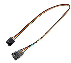 4 Pin to 3pin/4pin PWM PC Computer Cooling Fan Cable Convert Connector Extension Cable Length:50cm