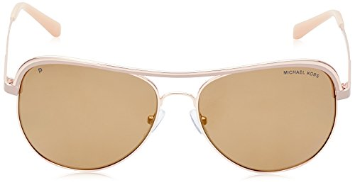 e24c456017 Michael Kors MK1012 11072T Pink   Gold Vivianna I Aviator Sunglasses  Polarised
