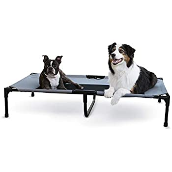 K&H PET PRODUCTS Original Pet Cot, Gray/Mesh, X-Large/32