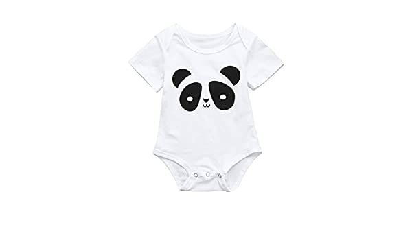 Lurryly 2018 Newborn Baby Boys Girls Flower Cute Animal Print Romper Jumpsuit Outfits Clothes