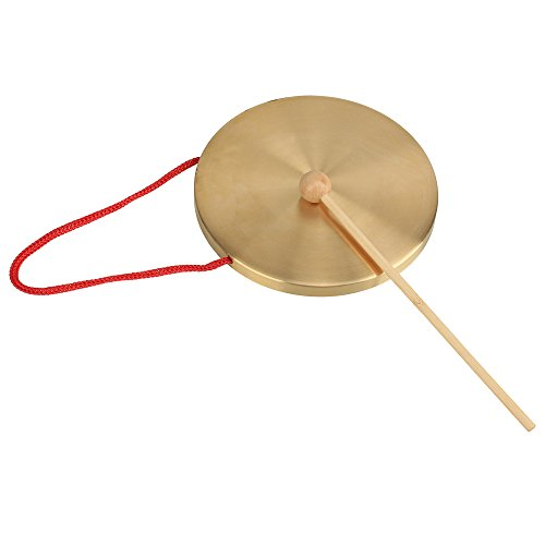 lovermusic Child Play Percusses Props Gonfalons 15.5cm Diameter Small Copper Hand Gong by lovermusic