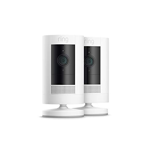 Ring Stick Up Cam Battery HD security camera with custom privacy controls, Simple setup, Works with Alexa – 2-Pack