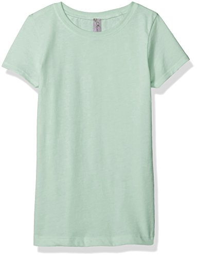 Clementine Apparel Girls' Little Everyday T-Shirt, Mint, L