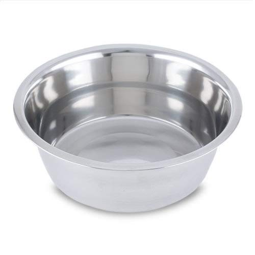 Stainless Steel Mirror 3 qt Pet Dish 6 Pack